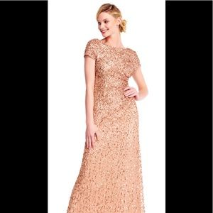Adrianna papell cowl back beaded gown
